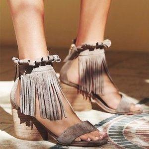 Free People block heels